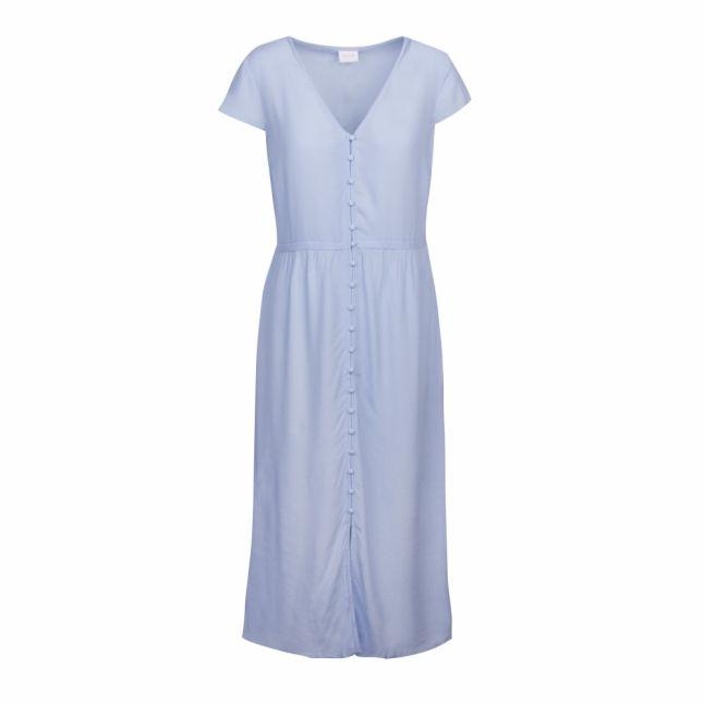 Womens Powder Blue Vidalinga Capsleeve Midi Dress