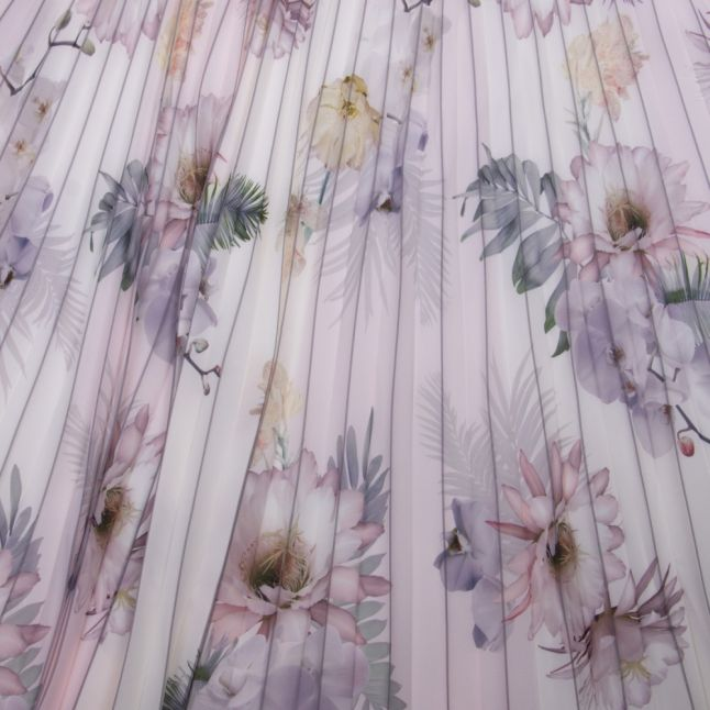 Womens Pale Pink Maziiy Woodland Pleated Skirt
