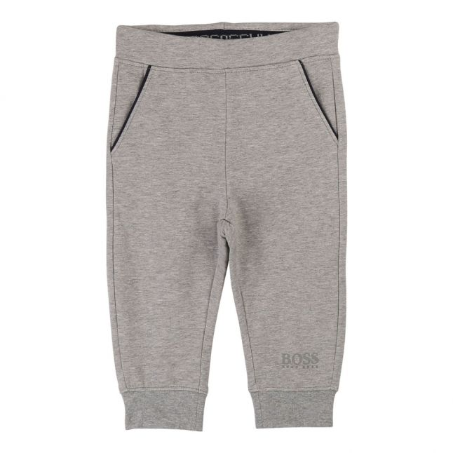 Toddler Grey Marl Branded Sweat Pants