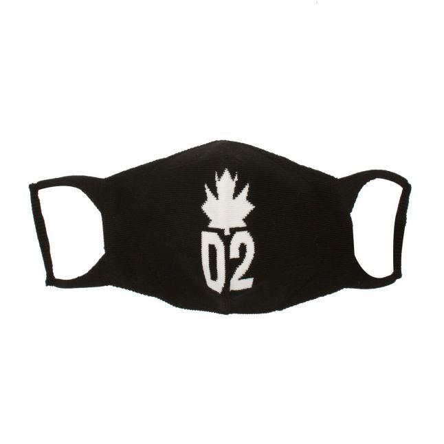 Black Maple Leaf Face Mask