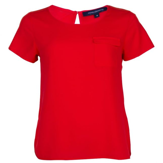 Womens Sunset Wave Classic Crepe Pocket Top