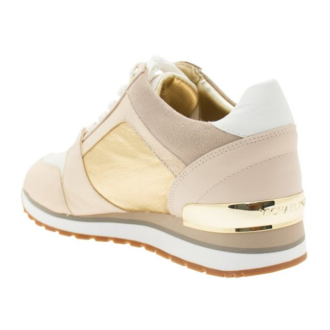 Womens Pink & Pale Gold Billie Trainers