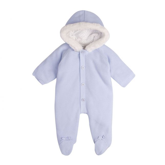 Baby Sky Blue Knitted All In One