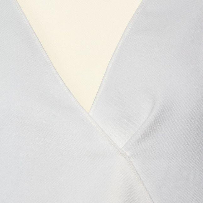 Womens Summer White Arrow Crepe Wrapover Top