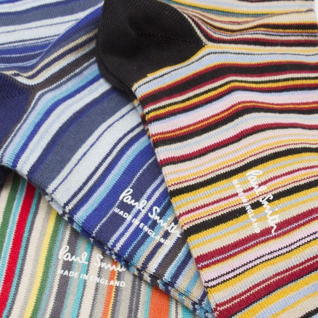 Mens Assorted Multi Stripe 3 Pack Socks
