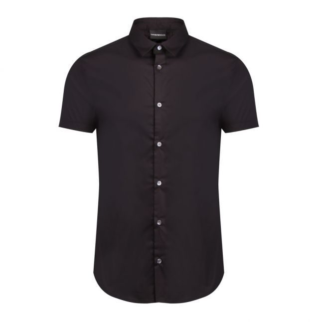 Mens Black Tape Detail S/s Shirt