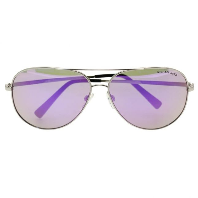 Womens Silver & Purple Mirror Kendall Sunglasses