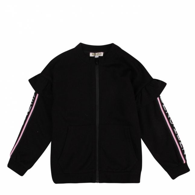 Junior Black Gaycie Tape Frill Sweat Jacket