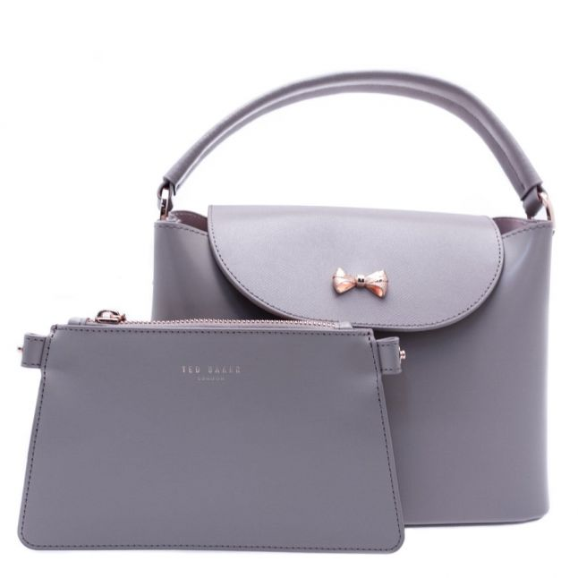 Womens Mid Purple Adalee Micro Bow Small Tote Bag
