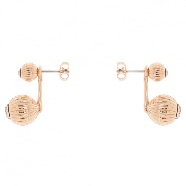 Womens Rose Gold & Vintage Areal Drop Earrings