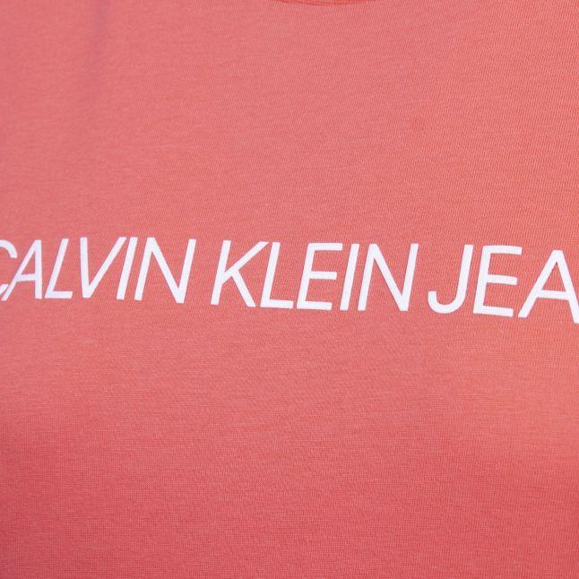 Calvin Klein Womens Island Punch Institutional Logo Slim Fit S/s T Shirt