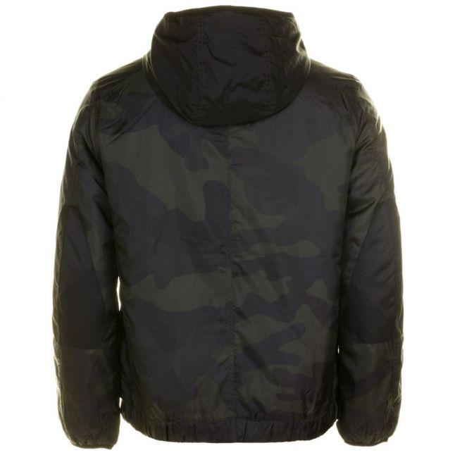Mens Asfalt & Carbon Setscale Hooded Camo Overshirt