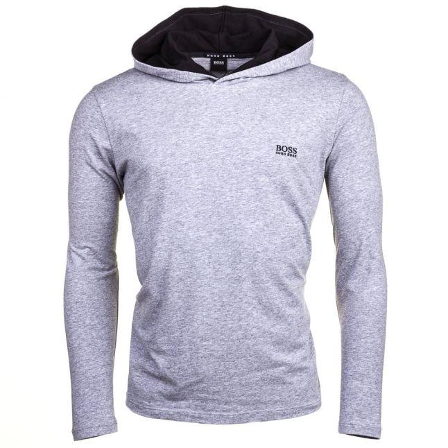 Mens Grey Hooded Loungewear Top