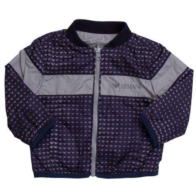 Baby Boys Blue Branded Reversible Jacket