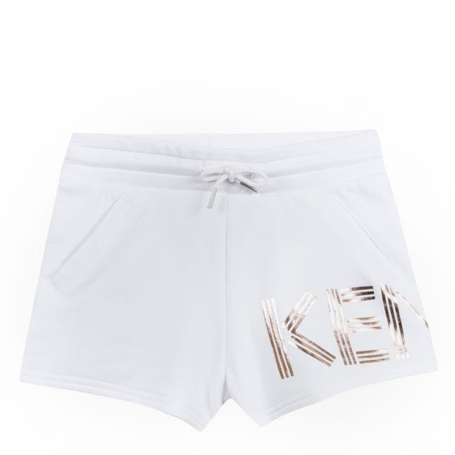 Junior Optic White Foil Logo Sweat Shorts