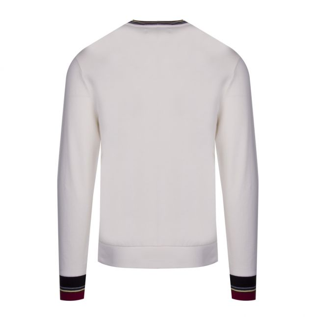 Womens Snow White Lightweight Tipped Sweat Top