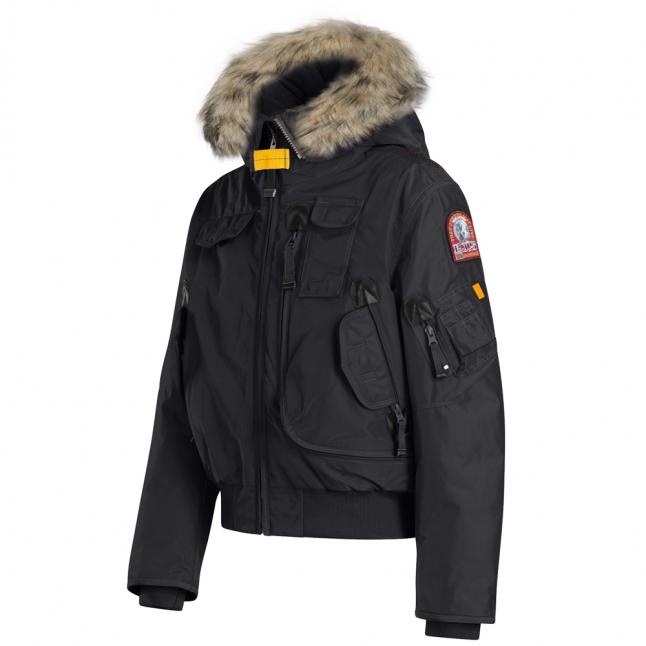 Boys Black Gobi Down Fur Hooded Jacket