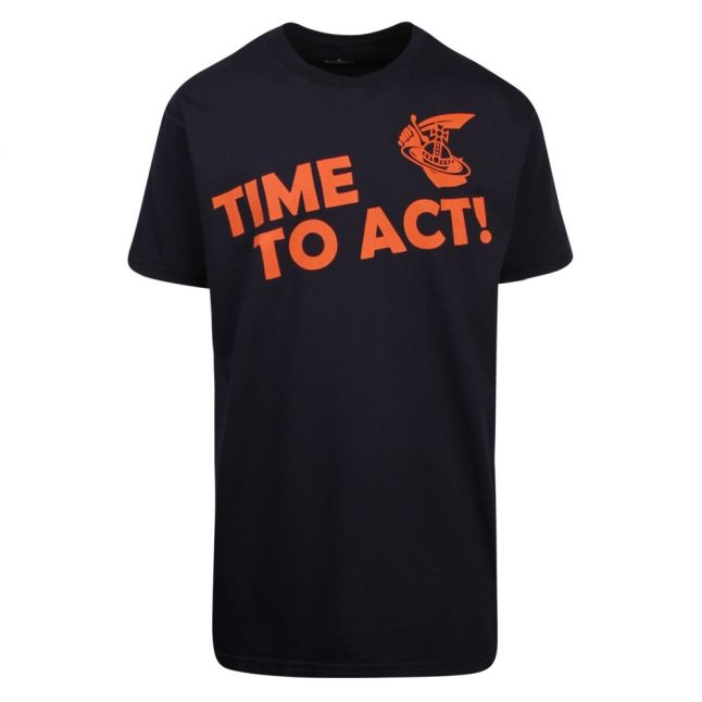 Anglomania Mens Blue Time To Act Boxy S/s T Shirt