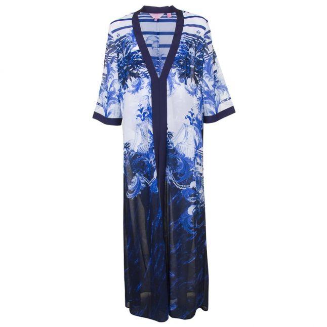 Womens Dark Blue Henee Long Persian Blue Cover Up