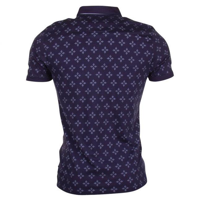 Mens Navy Fella Geo S/s Polo Shirt