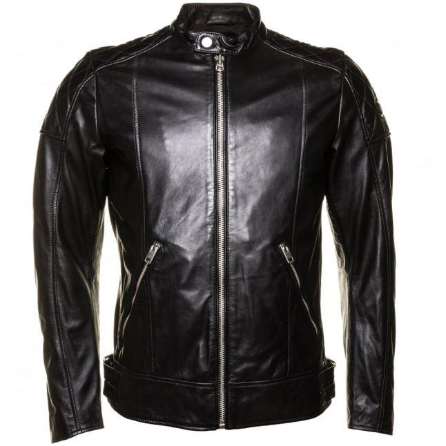 Mens Black L-Marton Leather Jacket