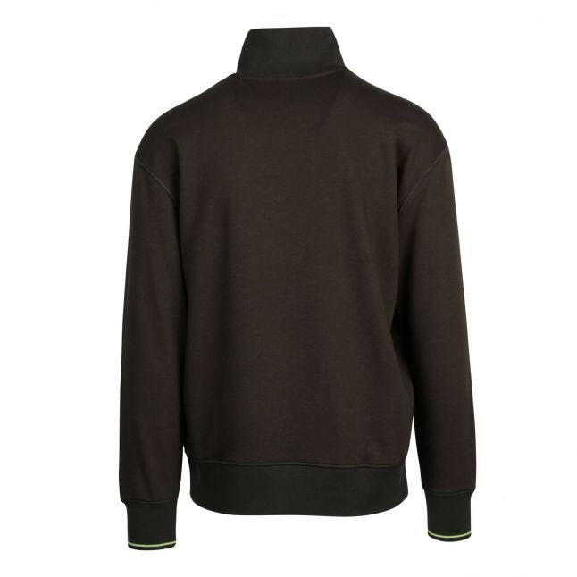 Casual Mens Khaki Zpitch 1/4 Zip Sweat Top