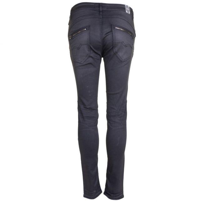 Womens Black Wash Elitayr Skinny Biker Fit Jeans