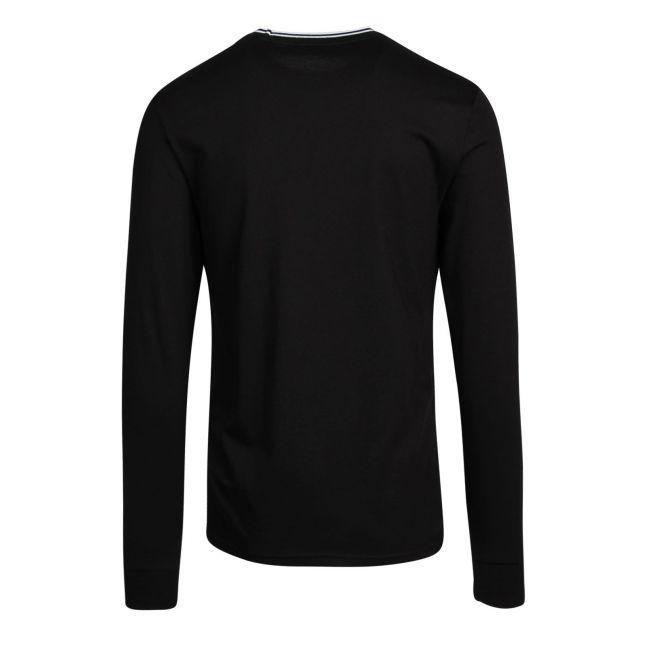 Mens Black Twin Tipped L/s T Shirt