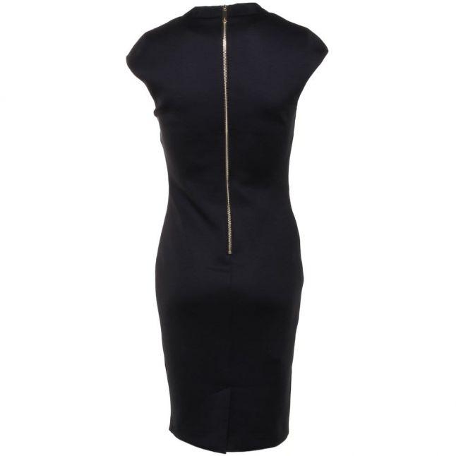 Womens Black Chayad Neoprene Suit Dress