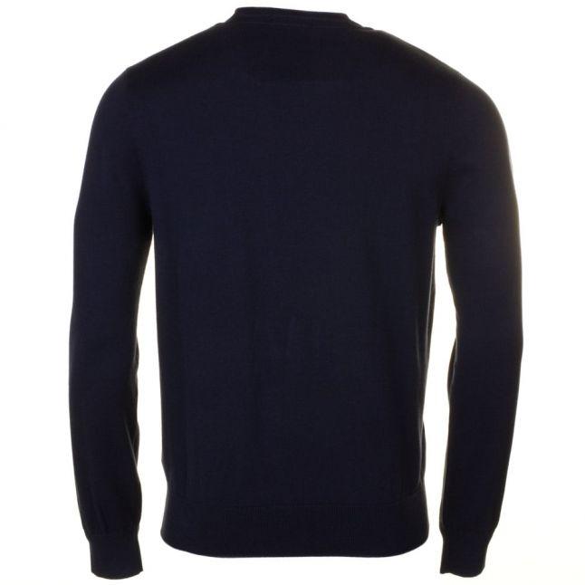 Mens Navy Moray Regular Fit Crew Knitted Jumper