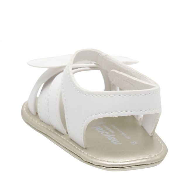 Baby White Bow Sandals (15-18)