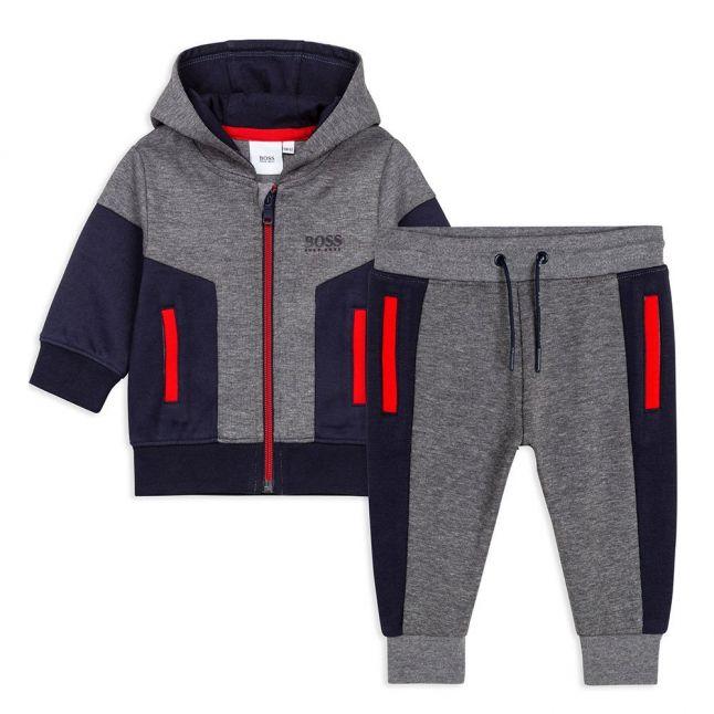 Toddler Medium Grey Colourblock Hooded Tracksuit
