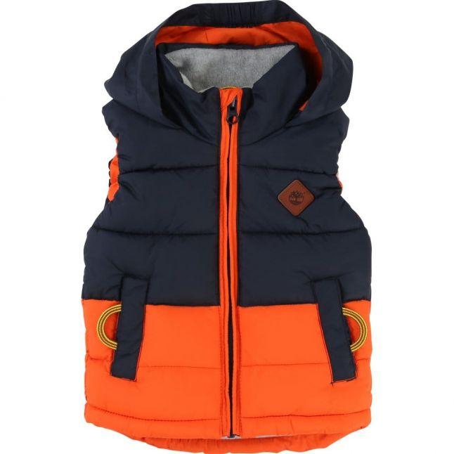 Baby Navy & Orange Gilet