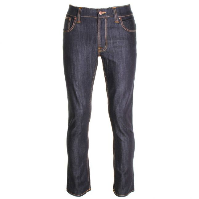 Mens Dry Ecru Embo Wash Thin Finn Slim Fit Jeans