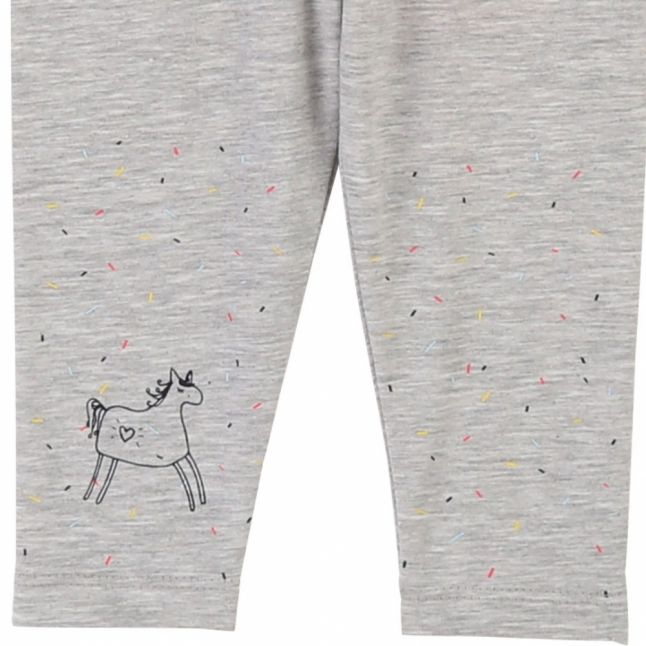 Baby Light Grey Marl Unicorn Leggings