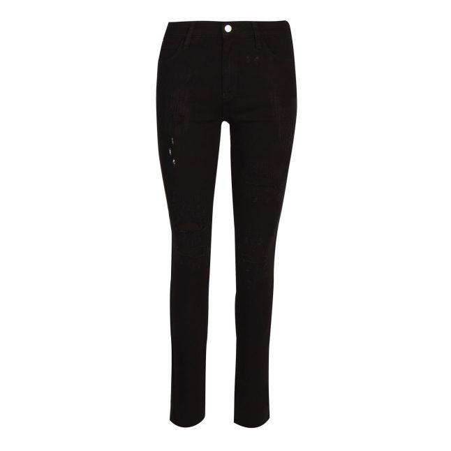 Emporio Armani Womens Black J18 High Rise Slim Fit Jeans