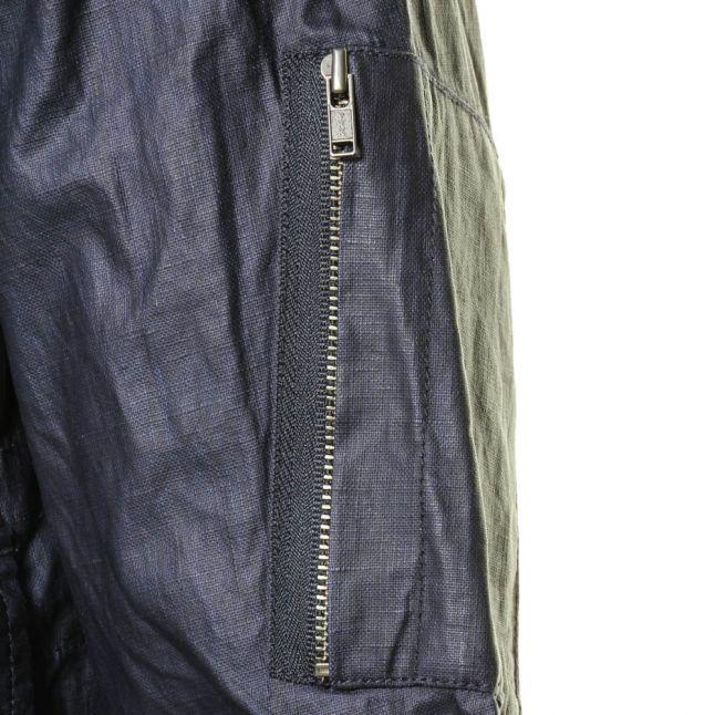 Mens Navy Wren Wax Coated Jacket