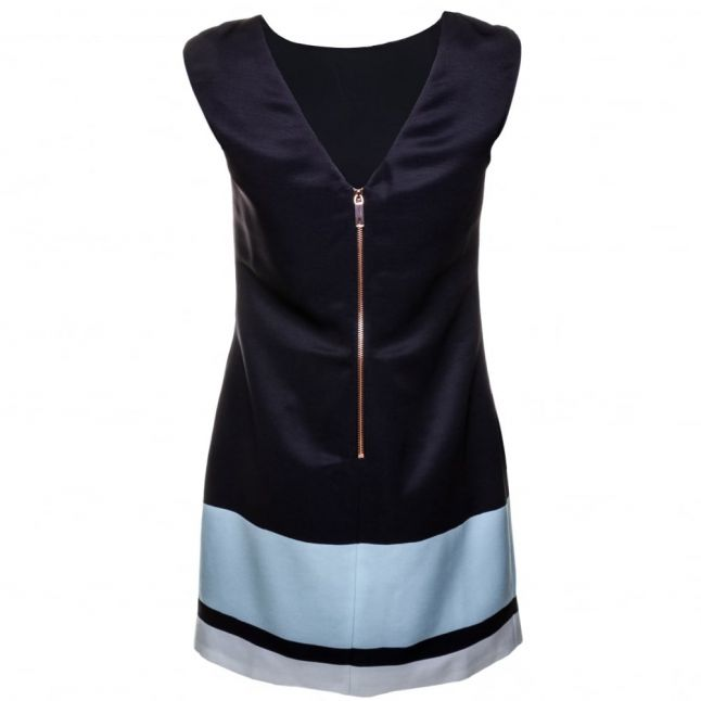 Womens Navy Dalyn Magnolia Stripe Textured Tunic Dress