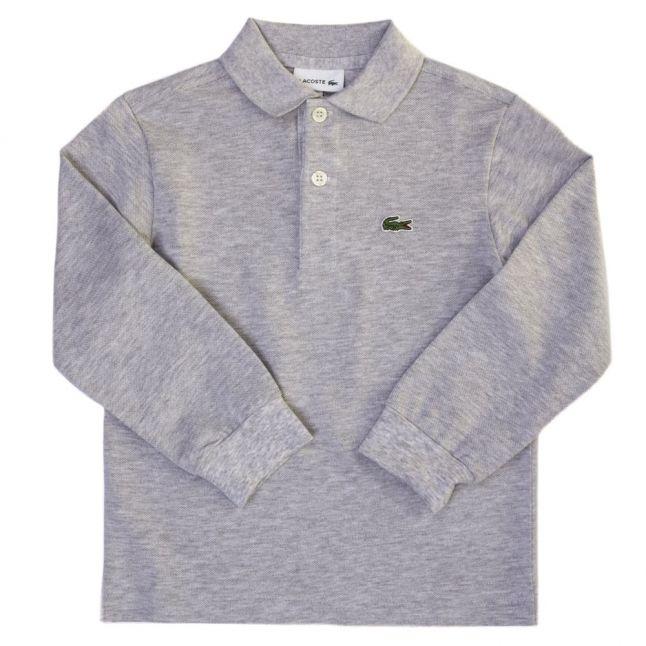 Boys Grey Classic L/s Polo Shirt