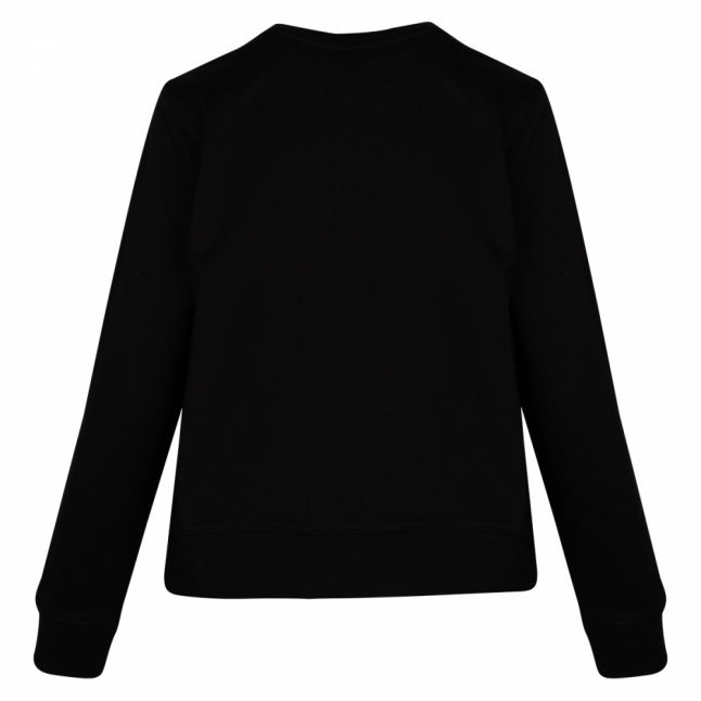 Womens Black Institutional Logo Sweat Top