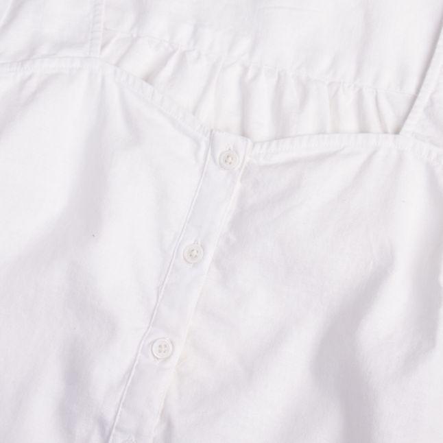 Womens Bright White Simone Puff Sleeve Blouse