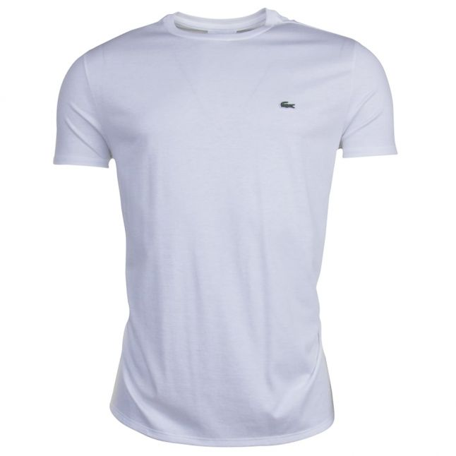 Mens White Basic Regular Fit S/s T Shirt