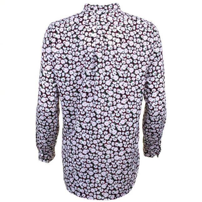 Womens Black Multi Bloomsbury Daisy Tie Neck Shirt