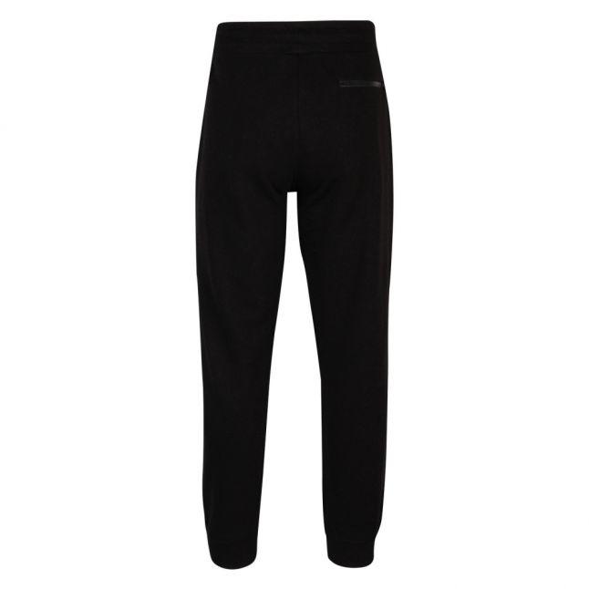 Mens Black Branded Patch Sweat Pants
