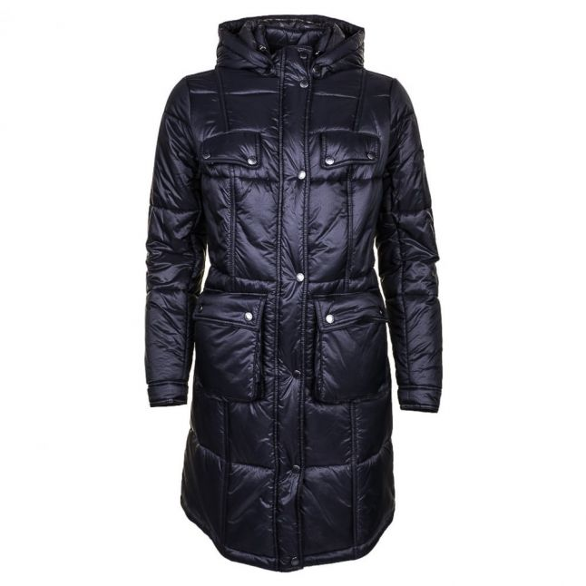 Womens Black Fairing Quilted Parka