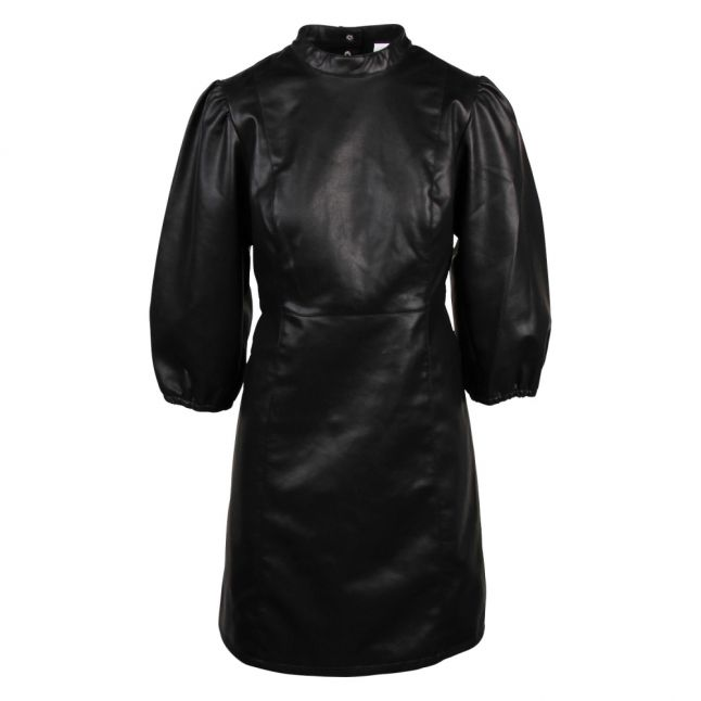 Womens Black Vipumida Faux Leather Dress
