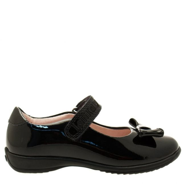 Girls Black Patent Perrie F-Fit Shoes (24-35)