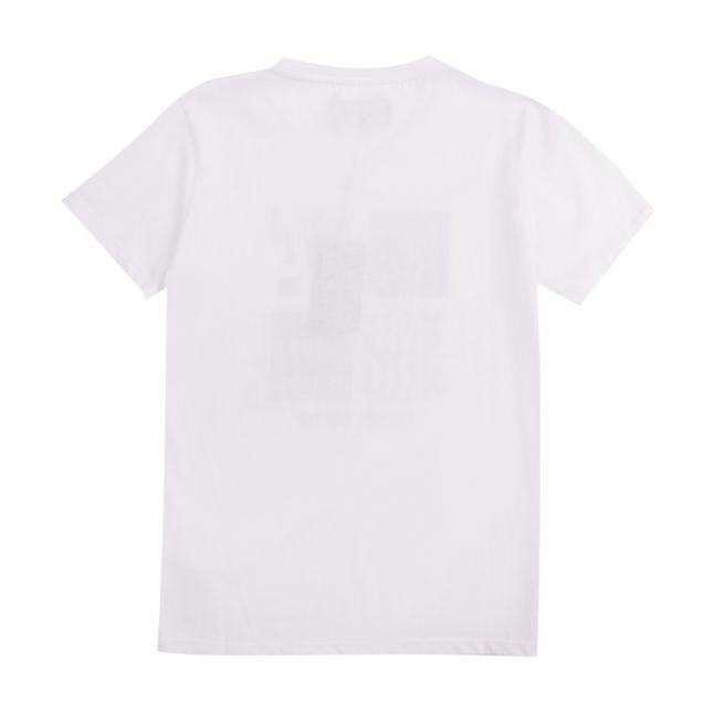 Boys White Gold Logo S/s T Shirt
