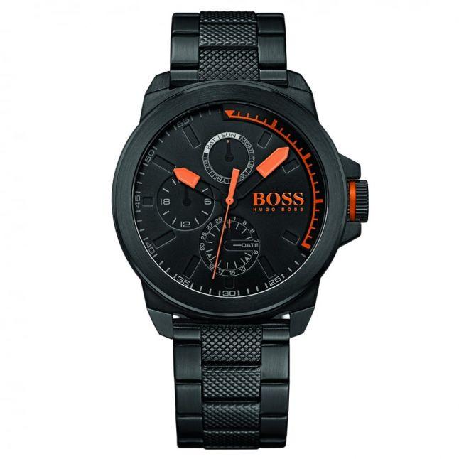 BOSS Orange Mens Black New York Bracelet Strap Multifunction Watch