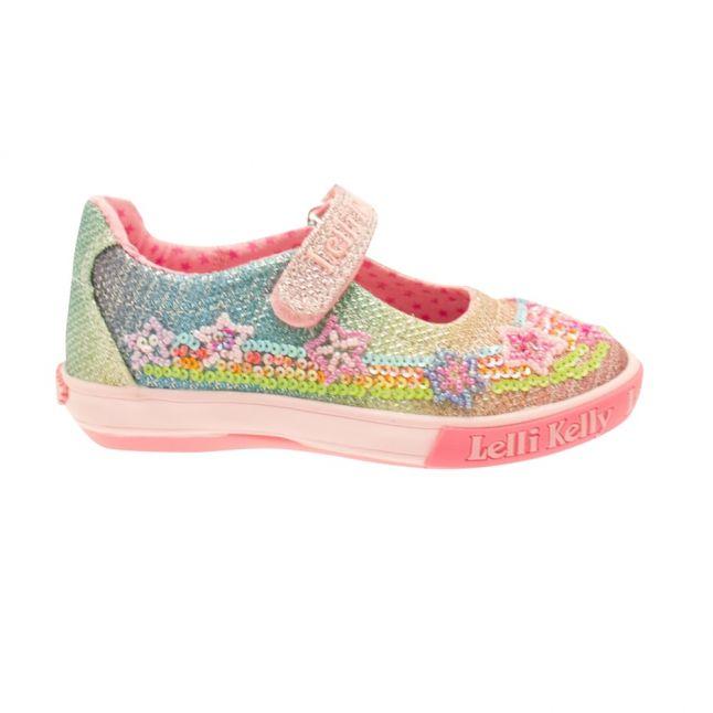 Girls Multi Glitter Rainbow Stars Shoe (25-33)